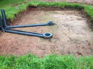 New pond build for Koi pond bottom drain design